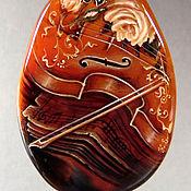 """Украшения ручной работы. Ярмарка Мастеров - ручная работа """"Музыка в камне. Скрипка"""". Handmade."""