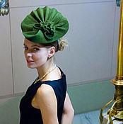 Аксессуары ручной работы. Ярмарка Мастеров - ручная работа Коктейльная шляпка «Пальмовый Лист». Handmade.