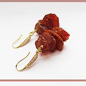 Украшения handmade. Livemaster - original item Wild amber earrings. Handmade.