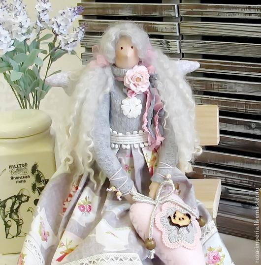 Куклы Тильды ручной работы. Ярмарка Мастеров - ручная работа. Купить Тильда Фея Чайная роза. Handmade. Серый, чай