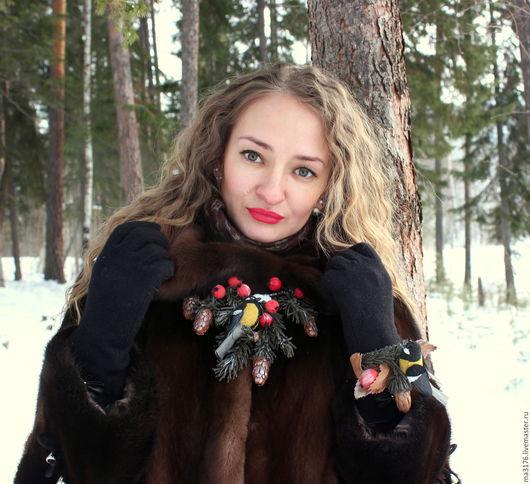 Зима в лесу  Зимняя сказка  мроз  птицы в лесу  синицы