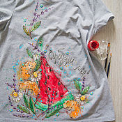 Одежда handmade. Livemaster - original item magic t-shirt is my Favorite. Handmade.