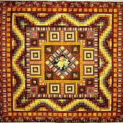 """Для дома и интерьера ручной работы. Ярмарка Мастеров - ручная работа Лоскутное одеяло """"Шоколадное"""". Handmade."""
