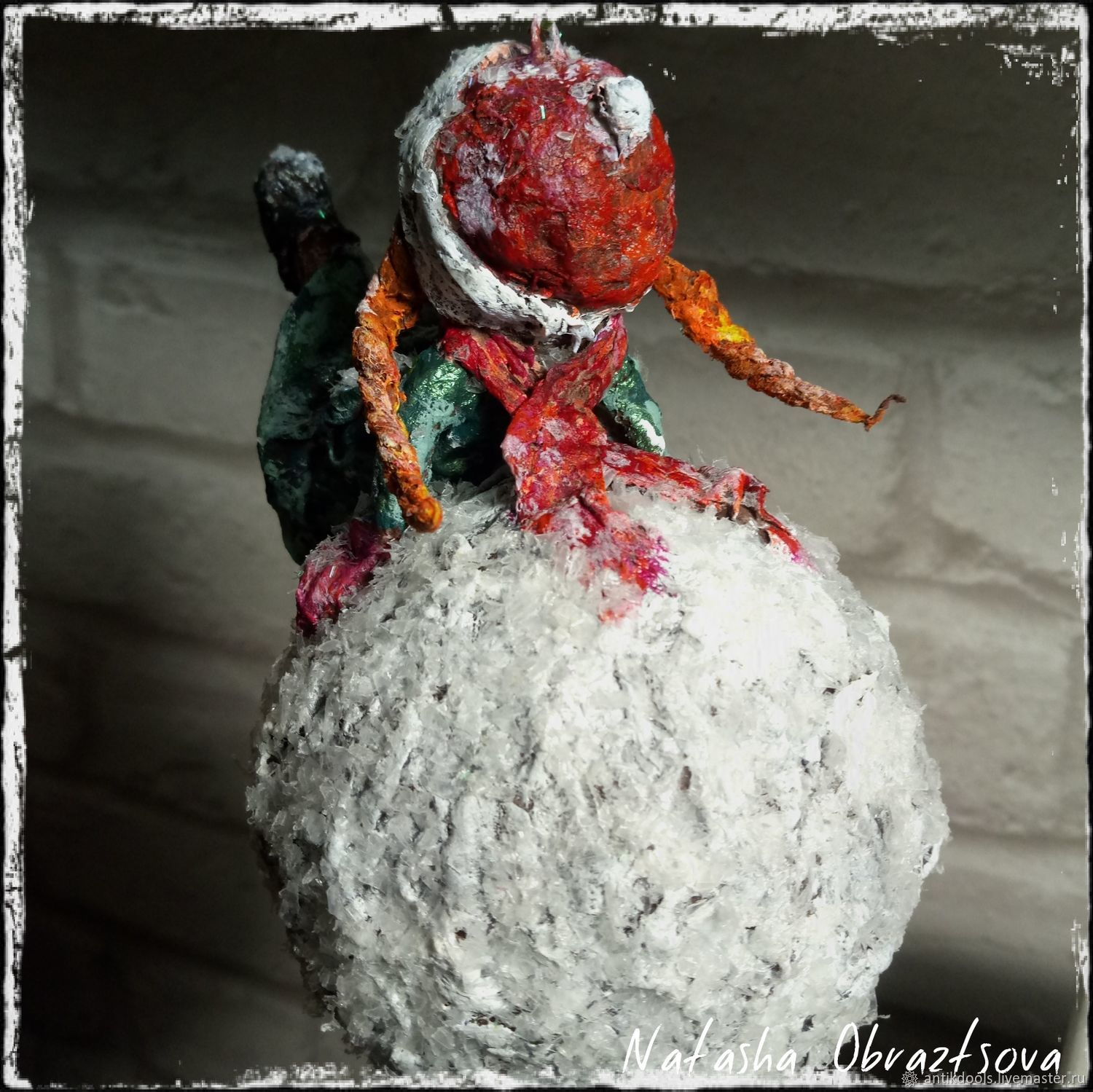 """Cotton Christmas toy """"happy holidays"""" – shop online on Livemaster"""