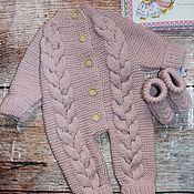 Работы для детей, handmade. Livemaster - original item Knitted Romper for baby 62 R. Handmade.