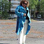 "Одежда ручной работы. Ярмарка Мастеров - ручная работа Пальто валяное ""Лагуна"". Handmade."