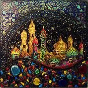 """Картины и панно ручной работы. Ярмарка Мастеров - ручная работа Декоративное панно """"Мираж..."""". Handmade."""