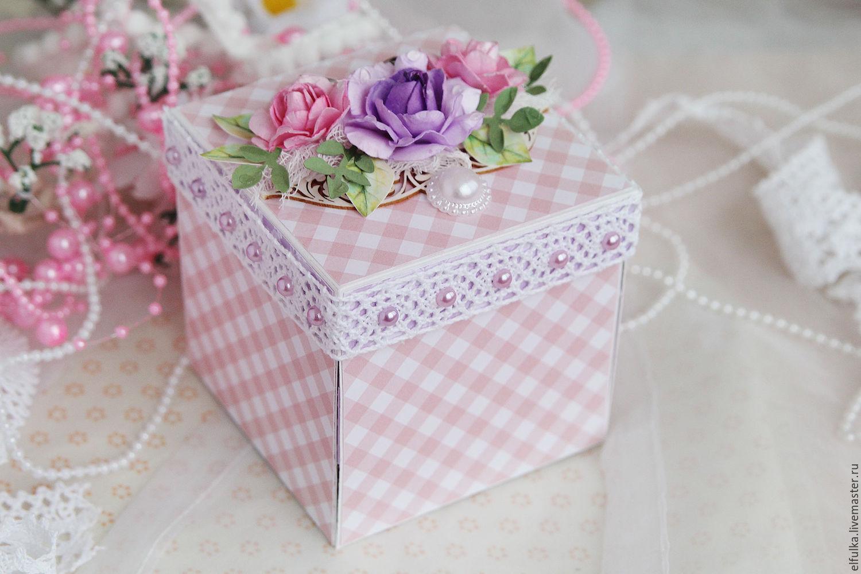 Как сделать подарочную коробку Подарок своими руками 59