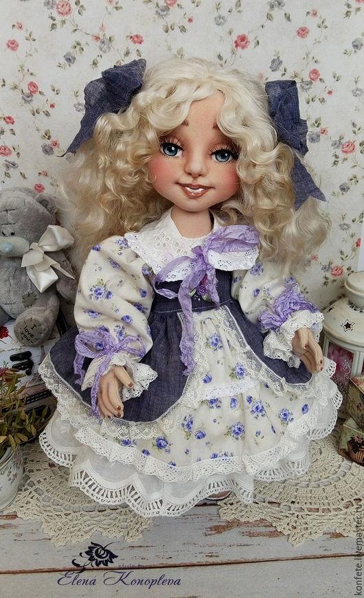 Коллекционные куклы ручной работы. Ярмарка Мастеров - ручная работа. Купить Кукла текстильная. Анжелика кукла интерьерная с объемным личиком. Handmade.