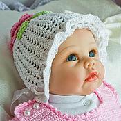 """Работы для детей, ручной работы. Ярмарка Мастеров - ручная работа Шапочка для девочки. Шапочка """"Пион"""" Вязанная шапочка .. Handmade."""