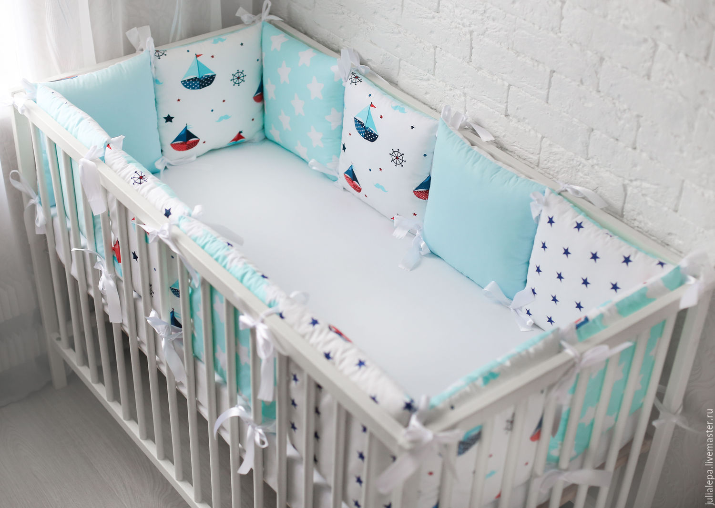 Как сделать в детскую кроватку бортики