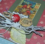 Открытки ручной работы. Ярмарка Мастеров - ручная работа открытка к новому году. Handmade.