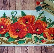 Картины и панно ручной работы. Ярмарка Мастеров - ручная работа Вышитая картина Маки. Handmade.