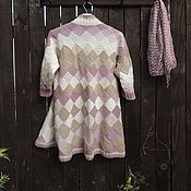 Одежда handmade. Livemaster - original item Cardigan knitted beige women`s wool interlock. Handmade.