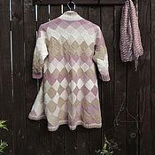 Одежда ручной работы. Ярмарка Мастеров - ручная работа Кардиган вязаный бежевый женский шерстяной энтерлак. Handmade.