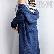 Одежда handmade. Livemaster - original item Women`s cardigan blue Blue oversized cotton cardigan. Handmade.