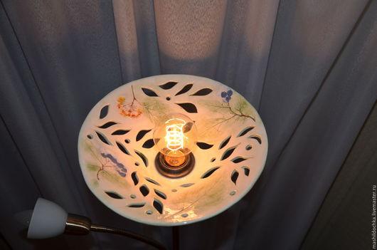 """Освещение ручной работы. Ярмарка Мастеров - ручная работа. Купить Торшер """"Нежность трав"""". Handmade. Комбинированный, Керамический светильник"""