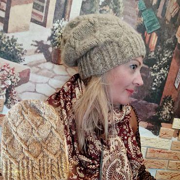 Аксессуары ручной работы. Ярмарка Мастеров - ручная работа Шапка с люрексом из итальянской шерсти альпака. Handmade.