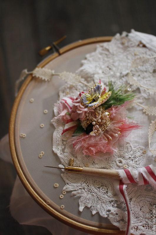 """Браслеты ручной работы. Ярмарка Мастеров - ручная работа. Купить Вышитый браслет """"Bouquet """". Handmade. Комбинированный, браслет с камнями"""