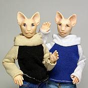 Куклы и игрушки handmade. Livemaster - original item Author doll miniature jointed cat (miniature, BJD, polyurethane). Handmade.