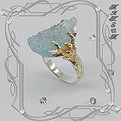 Украшения handmade. Livemaster - original item Vintage - Vintage ring 925 sterling silver, aquamarine crystal.. Handmade.