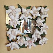 Для дома и интерьера ручной работы. Ярмарка Мастеров - ручная работа Зеркало с гардениями. Handmade.