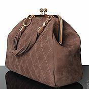 Сумки и аксессуары handmade. Livemaster - original item Suede bag, Beige bag, the bag on the way out, suede bag. Handmade.