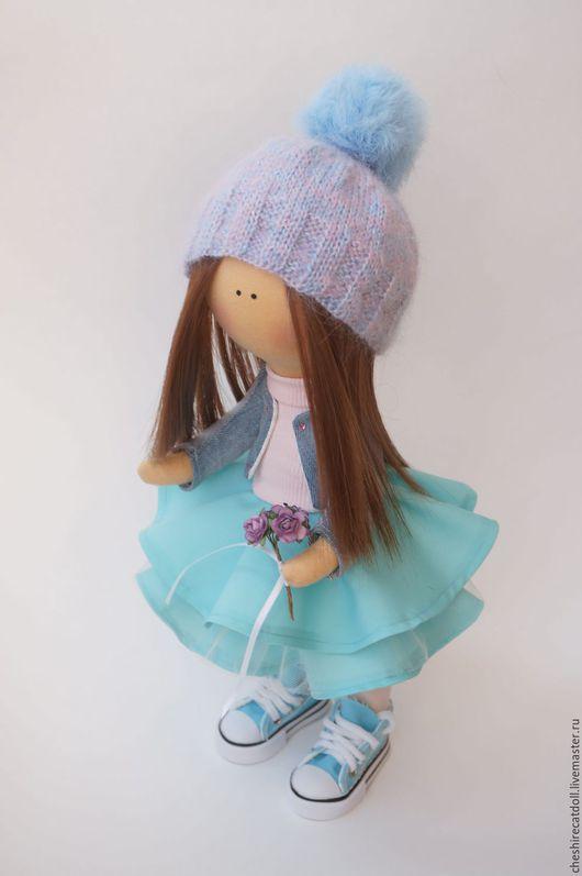 Коллекционные куклы ручной работы. Ярмарка Мастеров - ручная работа. Купить Интерьерная текстильная кукла. Handmade. Голубой, текстильная кукла