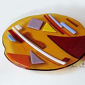 Посуда handmade. Livemaster - original item Dish Avangard glass, fusing. Handmade.