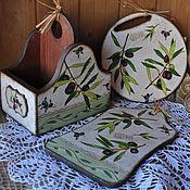 """Для дома и интерьера ручной работы. Ярмарка Мастеров - ручная работа """"Оливковая роща"""" кухонная утварь. Handmade."""