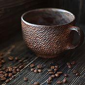 Посуда ручной работы. Ярмарка Мастеров - ручная работа Большая чашка для кофе. Handmade.
