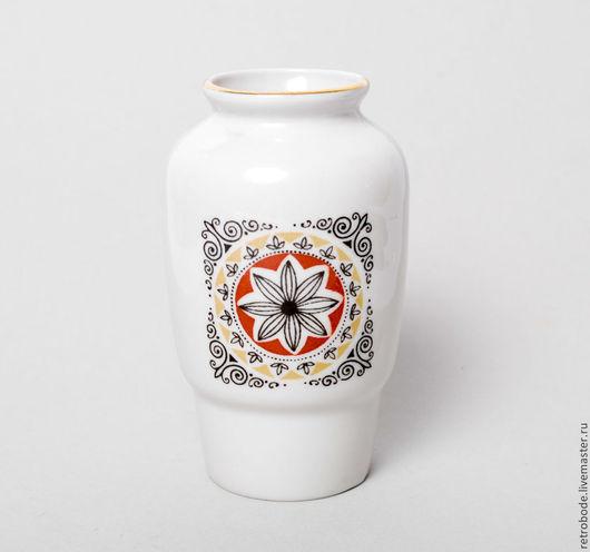 Винтажные предметы интерьера. Ярмарка Мастеров - ручная работа. Купить Фарфоровая ваза вазочка, Рижский фарфор, Винтаж деколь. Handmade.