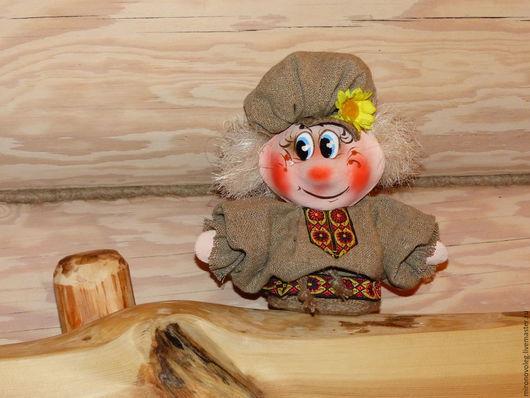 Человечки ручной работы. Ярмарка Мастеров - ручная работа. Купить Кукла из папье маше с цветочком. Handmade. Комбинированный, холст, мешковина