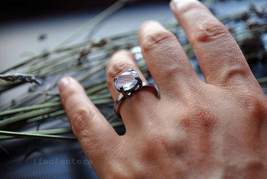 Кольца ручной работы. Ярмарка Мастеров - ручная работа. Купить Silence - серебряное кольцо с лавандовым аметистом (серебро 925). Handmade.