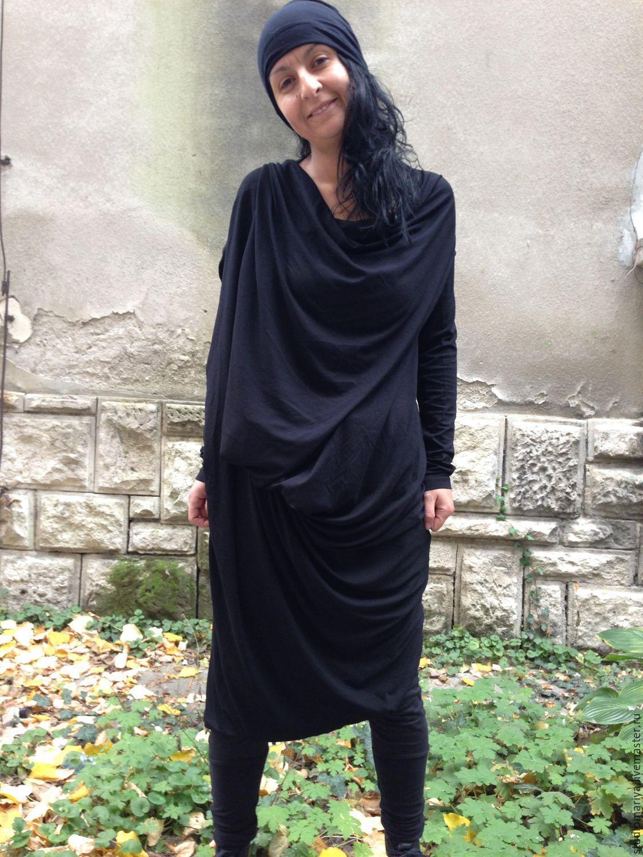 Трикотажные ассиметричные платья