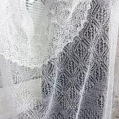 Аксессуары ручной работы. Ярмарка Мастеров - ручная работа 240, Паутинка  пуховый платок Пуховое кружево. Handmade.