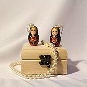 """Украшения handmade. Livemaster - original item Earrings """"Matryoshka"""". Handmade."""
