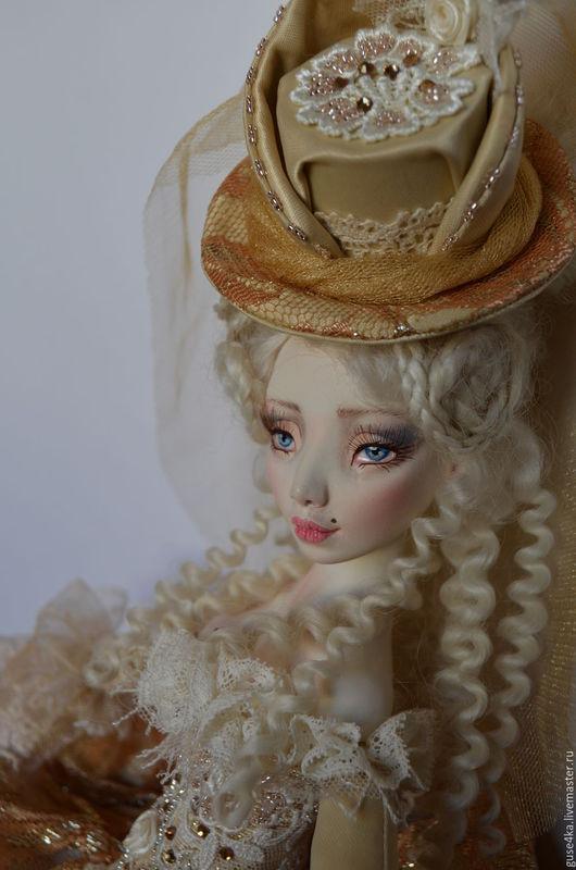 Коллекционные куклы ручной работы. Ярмарка Мастеров - ручная работа. Купить Будуарная кукла Лукреция. Handmade. Золотой, кукла на заказ