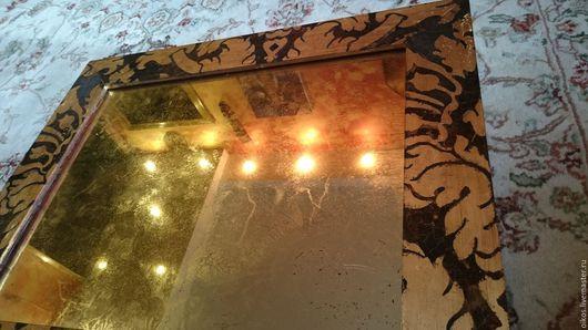 Зеркала ручной работы. Ярмарка Мастеров - ручная работа. Купить Состаренное зеркало из потали в винтажной раме ручной работы золочение. Handmade.
