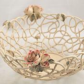 handmade. Livemaster - original item A big bowl Transparency d30cm. Handmade.