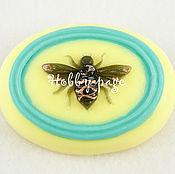 Материалы для творчества handmade. Livemaster - original item Silicone molds for soap Bee on oval. Handmade.