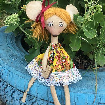 Куклы и игрушки ручной работы. Ярмарка Мастеров - ручная работа Текстильная мышка игрушка. Handmade.