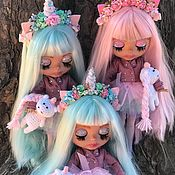 Кастом ручной работы. Ярмарка Мастеров - ручная работа Кукла Блайз(blythe)- куколки с розовыми или мятными волосами. Handmade.