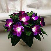 handmade. Livemaster - original item Flower-nightlight violets