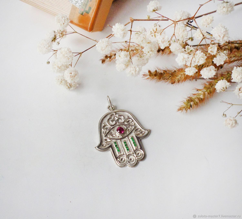 Hamsa amulet pendant (hand of Fatima), Pendants, Chaikovsky,  Фото №1