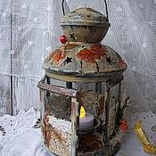 Для дома и интерьера handmade. Livemaster - original item metal lantern-candle holder for tea lights