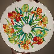 """Для дома и интерьера ручной работы. Ярмарка Мастеров - ручная работа Плафон """"Ирисы"""". Handmade."""