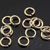Accessories for jewelry handmade. Livemaster - original item 10 PCs. Rings the unit. 4 mm gold plated th. Korea (art. 2093). Handmade.