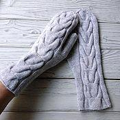 Аксессуары handmade. Livemaster - original item A copy of the work Mittens knitted felted braid. Handmade.