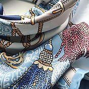 Палантины ручной работы. Ярмарка Мастеров - ручная работа Платок из ткани Hermes с рисунком. Handmade.